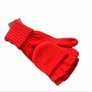 J. Crew red gloves/mittens